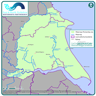 Map of the Waterways Partnership Area